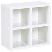 Wandregal Pisa B: 31 cm Weiß - Weiß, Basics, Holzwerkstoff (31/30,8/17,6cm) - MID.YOU