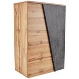 Kommode Venedig B:90cm Wotan Eiche/Beton Dunkel Dekor - Eichefarben/Schwarz, MODERN, Holzwerkstoff (90/121,5/40cm)
