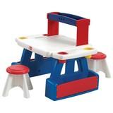 Kinderspielset Kreative Arbeit - Blau/Rot, Basics, Kunststoff (99/81/67cm)