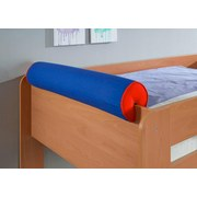 Nackenrolle Blau/Rot - Blau/Rot, Design, Textil (80/16/16cm) - Livetastic