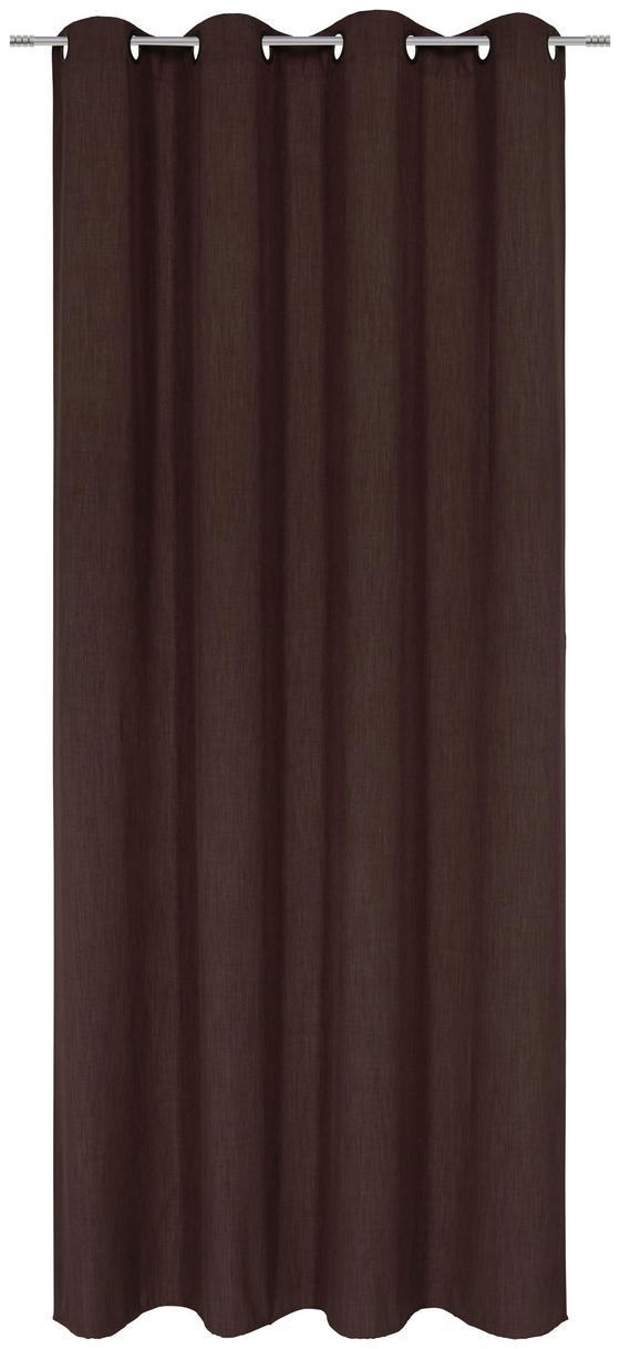 Záves S Krúžkami Ulli - hnedá, textil (140/245cm) - Mömax modern living