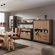 Police Nástěnná Azara - barvy smrku/tmavě šedá, Lifestyle, kov/dřevěný materiál (186,5/36/25,4cm) - MODERN LIVING