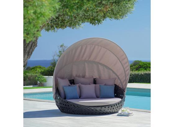 Relaxační Pohovka Dolly - šedá, Moderní, kov/textil (175/170cm) - Modern Living