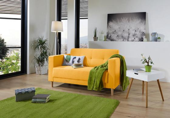 Zweisitzer-Sofa in Gelb