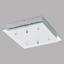 LED-Deckenleuchte Fres 2 - Chromfarben/Weiß, MODERN, Glas/Metall (29/29/7cm)