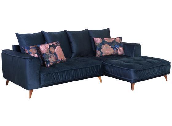 Sedací Souprava Belavio - tmavě modrá, Moderní, textil (256/175cm)