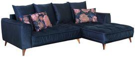 Sedací Souprava Belavio - tmavě modrá, Moderní, textilie (256/175cm)