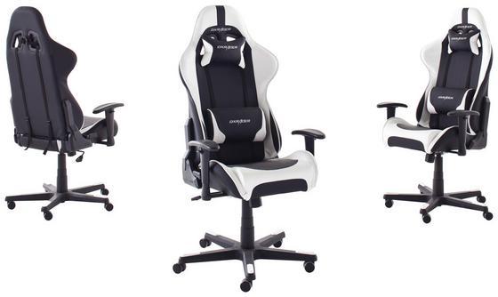 Gamingstuhl DX RACER in Schwarz und Weiß