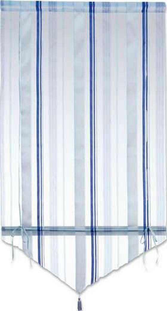 Raffrollo Milou - Blau/Champagner, KONVENTIONELL, Textil (80/140cm) - Ombra