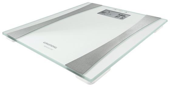 Grundig Körperfettwaage Glas - Silberfarben/Weiß, MODERN, Glas/Kunststoff (30/30cm) - Grundig