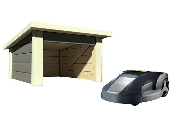 garage f r m hroboter pultdach terragrau online kaufen m belix. Black Bedroom Furniture Sets. Home Design Ideas