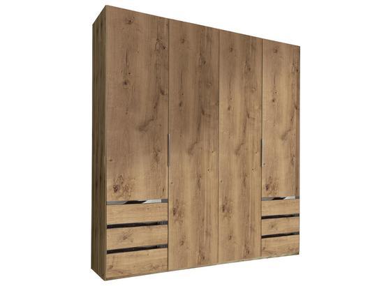 Drehtürenschrank mit Schubladen B:200cm Level 36a, Eichendekor - Eichefarben, MODERN, Holzwerkstoff (200/216/58cm)