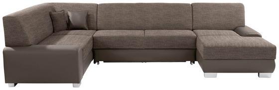 Sedací Souprava Miami - jílová barva/světle hnědá, Moderní, dřevo/textil (210/320/160cm)