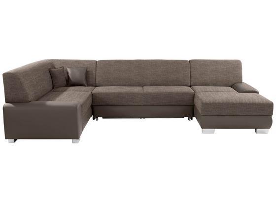 Sedacia Súprava Miami - svetlohnedá/bahenná hnedá, Moderný, drevo/textil (210/320/160cm)