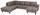 Wohnlandschaft in U-Form Cherno 237x313x167 cm - Wengefarben/Beige, MODERN, Textil (237/313/167cm)