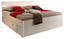 Posteľ Mars Biela - biela, Moderný, drevený materiál (145/97/216cm)