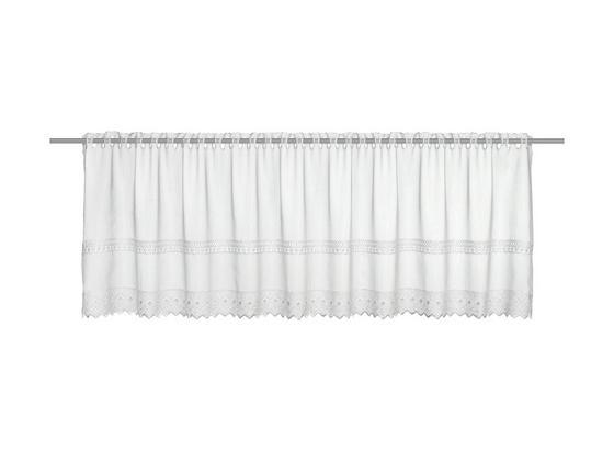Krátka Záclona Pia - biela, Romantický / Vidiecky, textil (150/47cm) - Mömax modern living