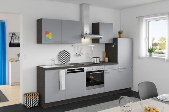 Küchenblock Win 280 cm Blaugrau/anthrazit - Anthrazit/Grau, MODERN, Holzwerkstoff (280cm) - Express
