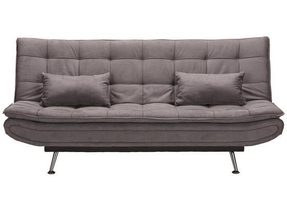 Rozkládací Pohovka Cloud - šedá, Moderní, kov/dřevo (196/92/98cm) - Modern Living
