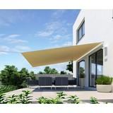 Sonnensegel Quadrat 4x4 M - Beige, MODERN, Textil (400/400cm)