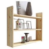Wandregal Mona B: 90 cm Kieferfarben - Kieferfarben, Basics, Holz (90/74/20cm) - Livetastic