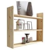 Wandregal Mona B: 90 cm Kieferfarben - Kieferfarben, Basics, Holz (90/74/20cm) - MID.YOU