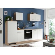 Kuchyňský Blok Welcome Andy - bílá/Sonoma dub, Moderní, dřevěný materiál (270/195/60cm)