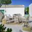Záhradná Lavička Zypern 2 - prírodné farby/béžová, kov/textil (115/88/63cm) - Modern Living