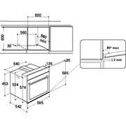 Einbauherd Ivv 35y4 H Ixj - Edelstahlfarben/Schwarz, Basics, Glas/Kunststoff (59,5/59,5/54,2cm) - Indesit
