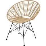 Stuhl X67000010 B: 78 cm Braun - Schwarz/Braun, Basics, Naturmaterialien/Metall (78/62/72cm) - MID.YOU