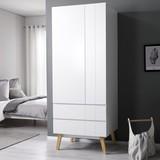 Šatní Skříň Milo - bílá, Moderní, dřevo (80/205/60cm) - Modern Living