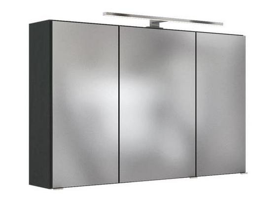 Spiegelschrank Pienza B: 40 cm Grau - Grau, Basics, Glas/Holzwerkstoff (100/200/48cm) - Livetastic