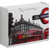 Schuhkipper London 2 - Rot/Schwarz, MODERN, Kunststoff (51/40,1/17,3cm)