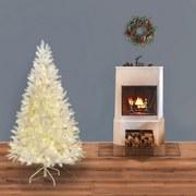 Weihnachtsbaum H: 150 cm Weiß - Weiß, Trend, Kunststoff/Metall (150cm) - X-Mas