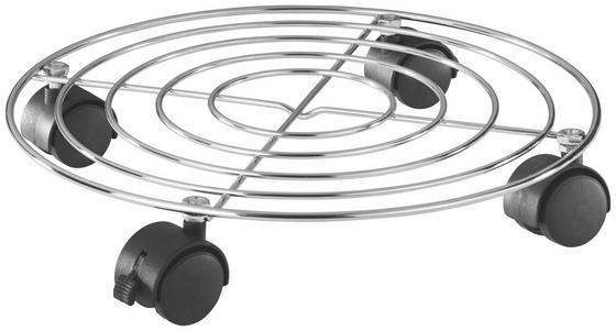 Pojízdný Podstavec Na Květináč T344 - Konvenční, kov/umělá hmota (33/6cm)