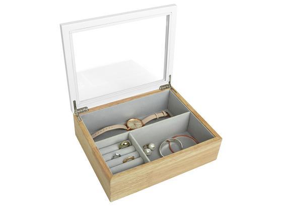 Krabička Na Šperky Flora - svetlohnedá/biela, drevo/kompozitné drevo (25,4/20,32/7,62cm) - Mömax modern living