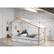 Kinder-/Juniorbett Cocoon 90x200 cm - Weiß/Naturfarben, MODERN, Holz/Holzwerkstoff (90/200cm) - Livetastic