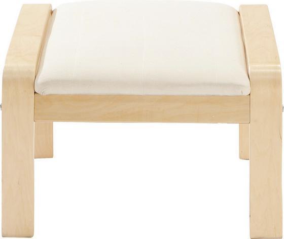 Taburet Sally - barva břízy/přírodní barvy, Moderní, dřevo/textil (50/52/38cm)