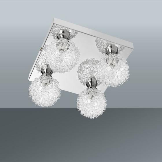 Stropná Lampa Mia - farby chrómu, Moderný, kov/sklo (21/21/12cm) - MÖMAX modern living
