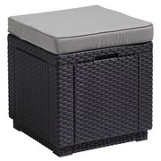 Hocker Cube - Graphitfarben, MODERN, Kunststoff (42/39/42cm) - ALLIBERT