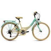 Kinderfahrrad Kinderrad 24'' Kahuna - Beige/Grün, Basics, Metall