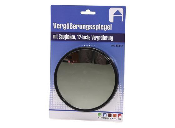Kosmetikspiegel Ø 13 cm - Schwarz, Glas/Kunststoff (13,0cm)