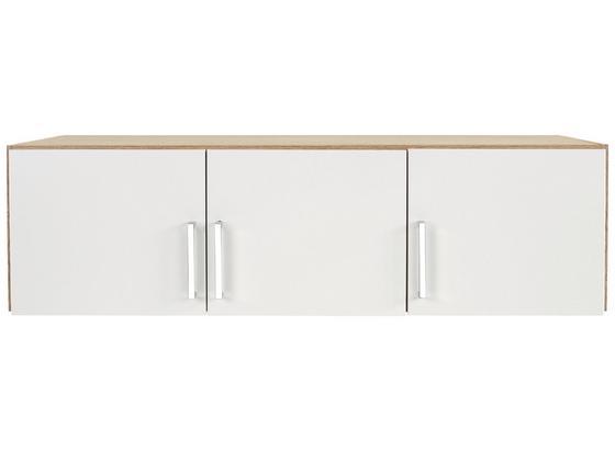 Nadstavec Na Skriňu Ku 3 Dv.skrini Wien - farby dubu/biela, Konvenčný, kompozitné drevo (136/39/54cm)