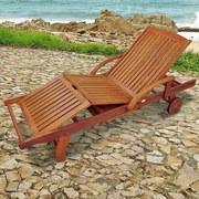 Gartenliege Sun Flair B: 73 cm Braun - Braun, Basics, Holz (73/82/195cm) - Ambia Garden