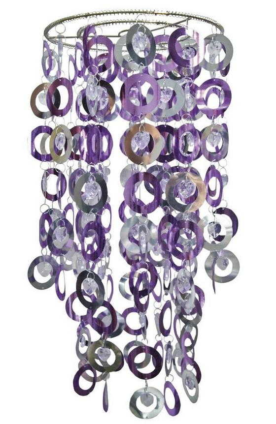 Hängeleuchte Lavender - Chromfarben/Lila, KONVENTIONELL, Kunststoff (27/54cm) - Ombra