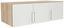 Nástavec Na Skříň Ke 3 Dv.skříni Wien - bílá/barvy dubu, Konvenční, dřevěný materiál (136/39/54cm)
