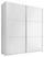 SCHWEBETÜRENSCHRANK Includo 188cm Weiß - Weiß, MODERN, Glas/Holzwerkstoff (188/222/68cm)