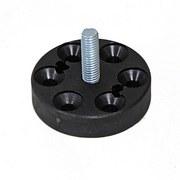 Plattenverbinder Montageplatten D: 4 cm - Schwarz, Basics, Kunststoff (4/1cm)