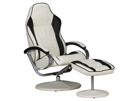 Relaxsesselset Sporting B: 69cm Braun/Creme - Silberfarben/Creme, MODERN, Textil/Metall (69/98/60cm) - Livetastic