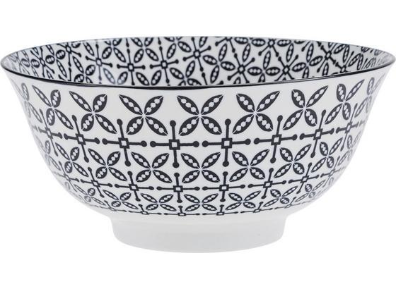 Miska Shiva - čierna/biela, Štýlový, keramika (21/8cm) - Mömax modern living